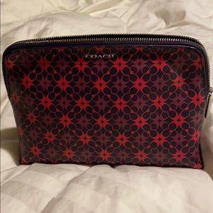 Coach makeup/ cosmetic bag